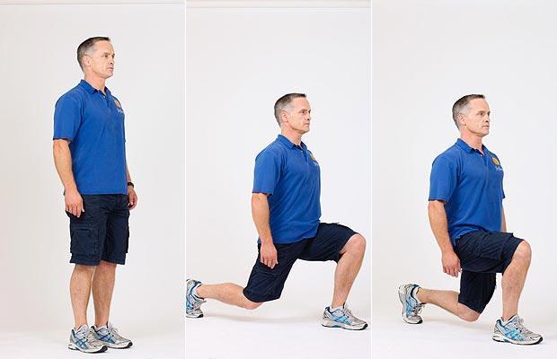 حرکت ورزشی Lunges