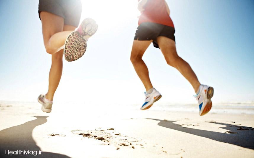 beach-running
