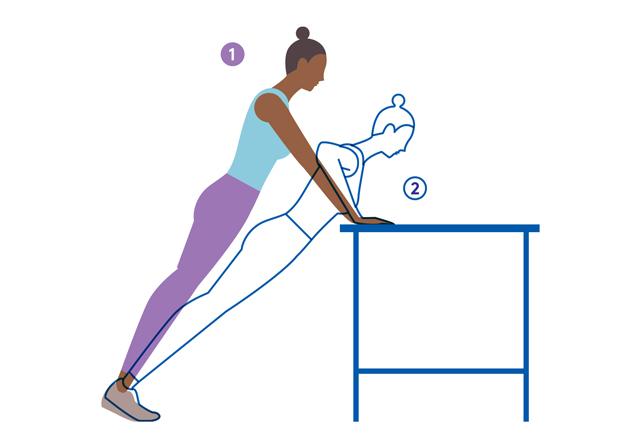بهترین حرکات ورزشی بانوان,حرکت Incline push-ups