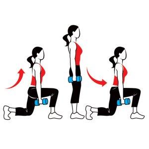 بهترین حرکات ورزشی بانوان,حرکت لانگ