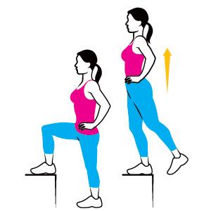 بهترین حرکات ورزشی بانوان,حرکت step-up-leg-lift