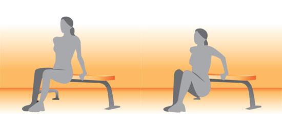 بهترین حرکات ورزشی بانوان,حرکت Tricep dips
