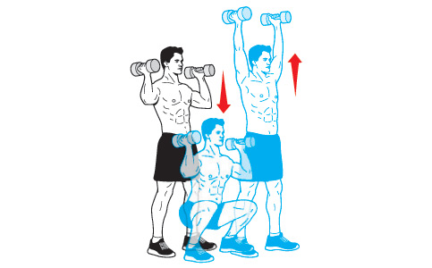 حرکت Dumbbell Thruster