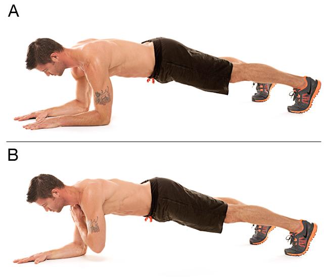 حرکت plank taps
