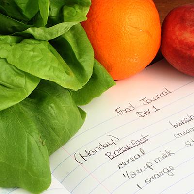 کاهش وزن در افراد دیابتی,آنچه میخورید را یادداشت نمائید