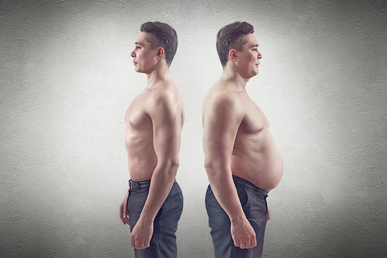 fat vs skinny man ۱۰ دلیل علمی برای مصرف پروتئین