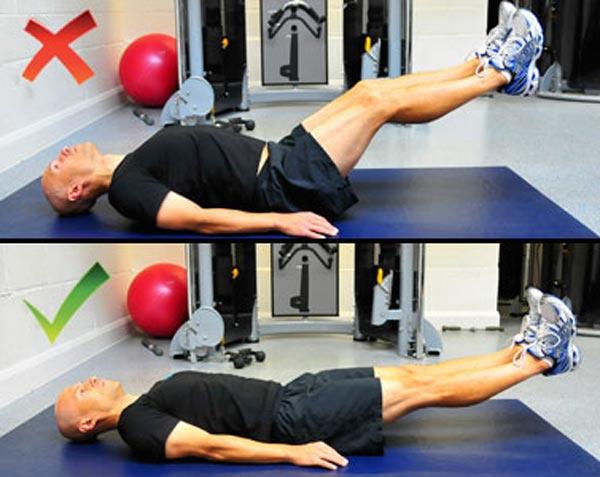 leg lifts چگونه عضلات شکم را پرورش دهیم؟