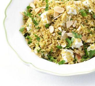 spiced quinoa with almonds and feta آشپزی بدون گلوتن   دستور پخت غذاهای بدون گلوتن سلامت
