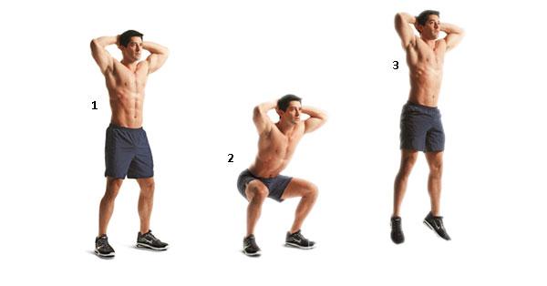 تمرین وزن بدنی پرش اسکوات