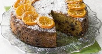 دستور پخت کیک کلمانتین پر شده با میوه
