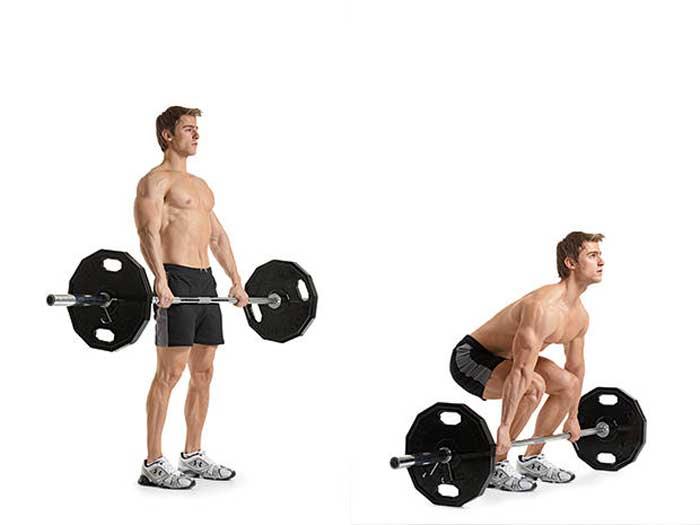 تمرینات قدرتی برای کاهش وزن,ددلیفت هالتر