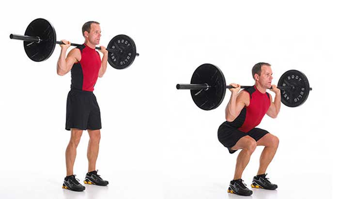 تمرینات قدرتی برای کاهش وزن,اسکات هالتر