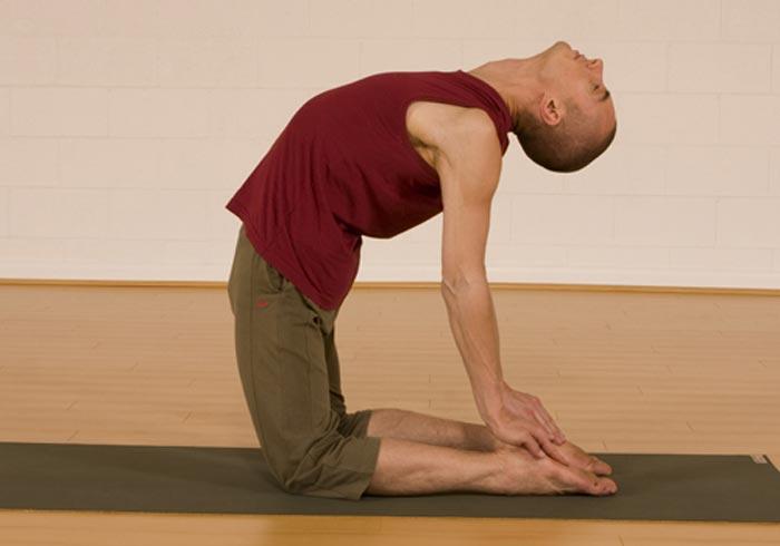 ورزش یوگا تقویت تخمدان,حالت شتر یوگا Ustrasana
