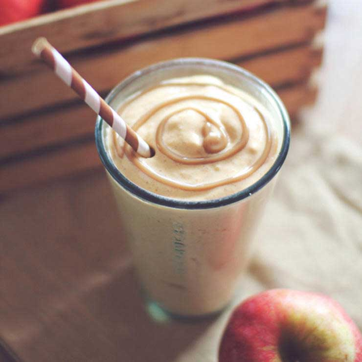 انواع میلک شیک,شیک پروتئینی پای سیب کاراملی