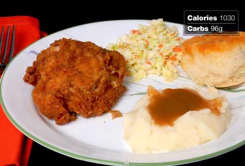 غذاهای مفید و مضر برای صبحانه افراد دیابتی,مرغ سوخاری