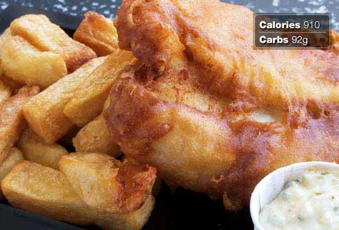 غذاهای مفید و مضر برای صبحانه افراد دیابتی,بشقاب ماهی سرخ شده