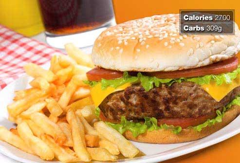 غذاهای مفید و مضر برای صبحانه افراد دیابتی,همبرگر