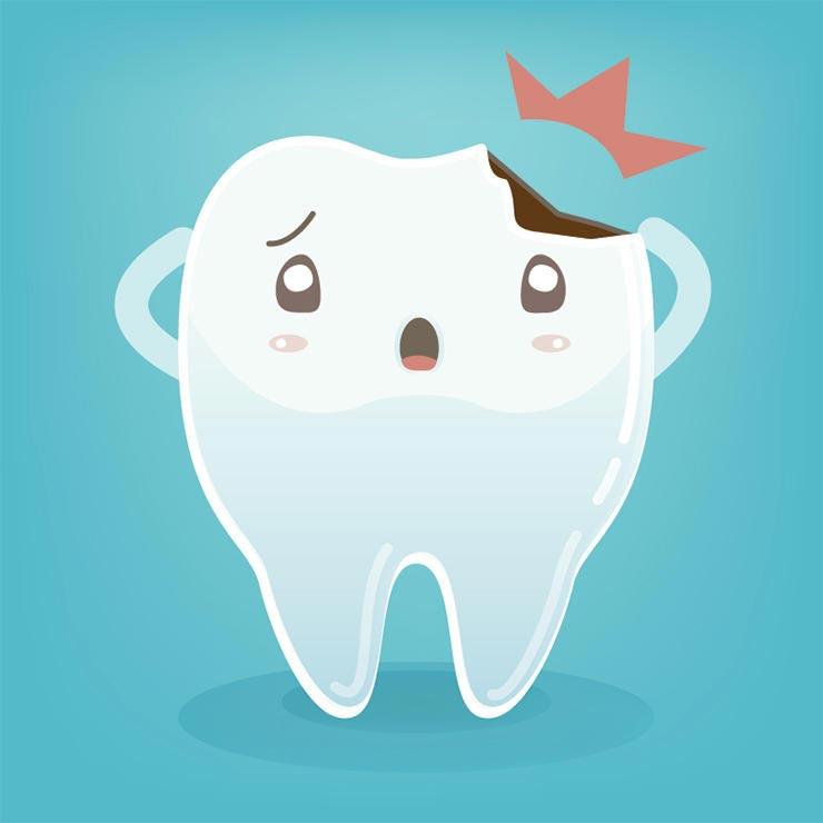 لک روی دندان
