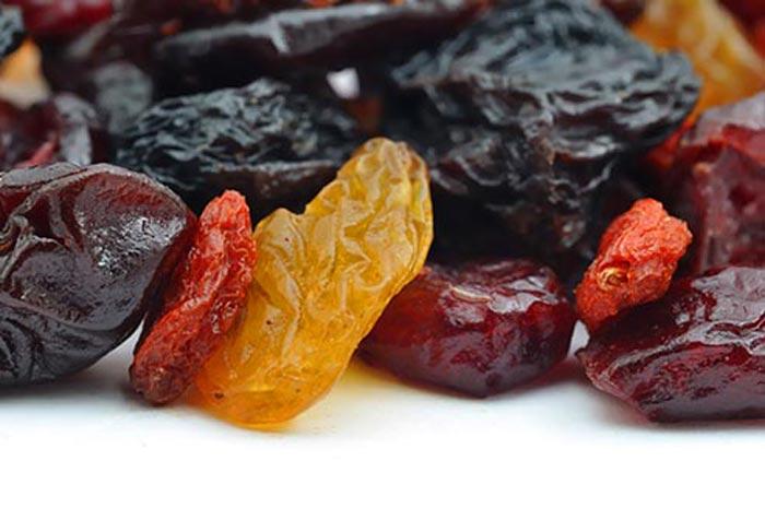 میوه خشک شده,منبع شکر