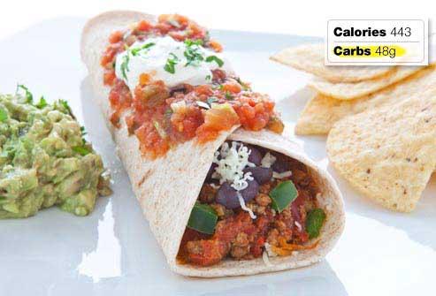 غذاهای مفید و مضر برای صبحانه افراد دیابتی,گوشت و اینچیلادای لوبیا