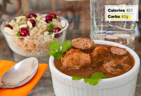 غذاهای مفید و مضر برای صبحانه افراد دیابتی,گامبوی مرغ رژیمی