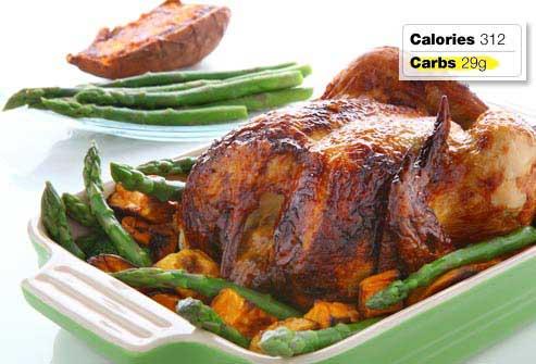 غذاهای مفید و مضر برای صبحانه افراد دیابتی,مرغ بریان