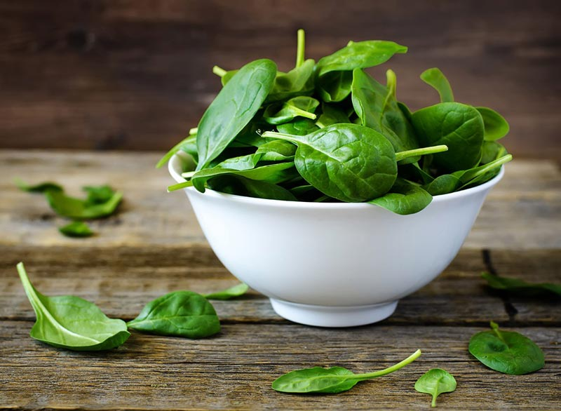 برای صاف شدن شکم چه بخوریم,رژیم غذایی شکم تخت,baby-spinach اسفناج