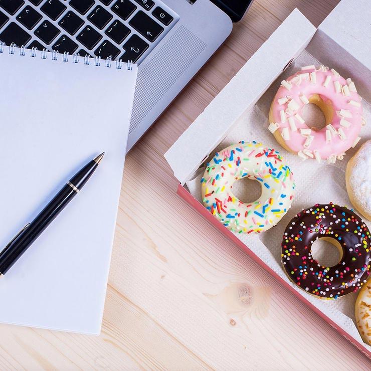 رازهای لاغری,office-donuts-دونات