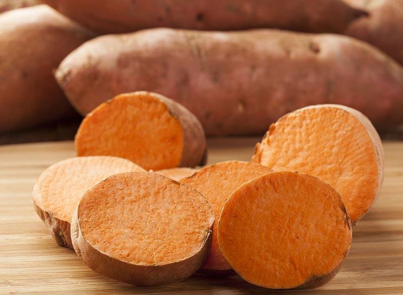 برای صاف شدن شکم چه بخوریم,رژیم غذایی شکم تخت,sweet-potatoes سیب زمینی شیرین