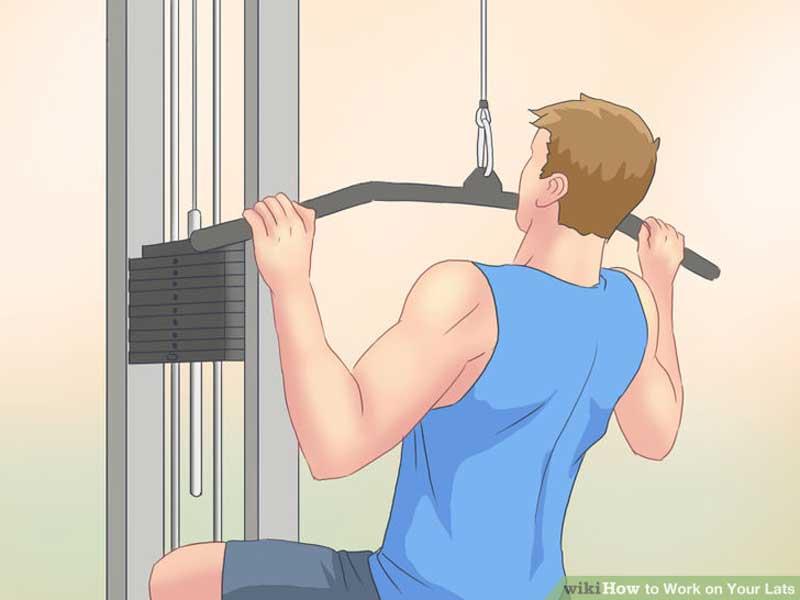 ورزش برای آب کردن چربی پشت کمر,aid1609398-728px-work-on-your-lats-step-1-version-2
