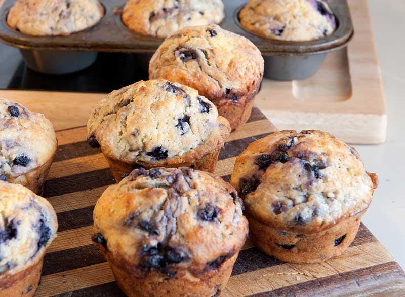 ماست برای لاغری,blueberry-muffins