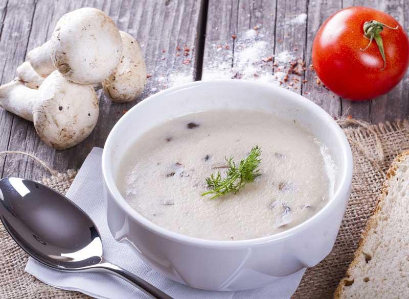 ماست برای لاغری,greek-yogurt-mushroom-soup