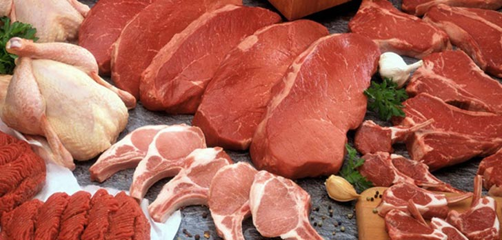 کالری انواع گوشت meats