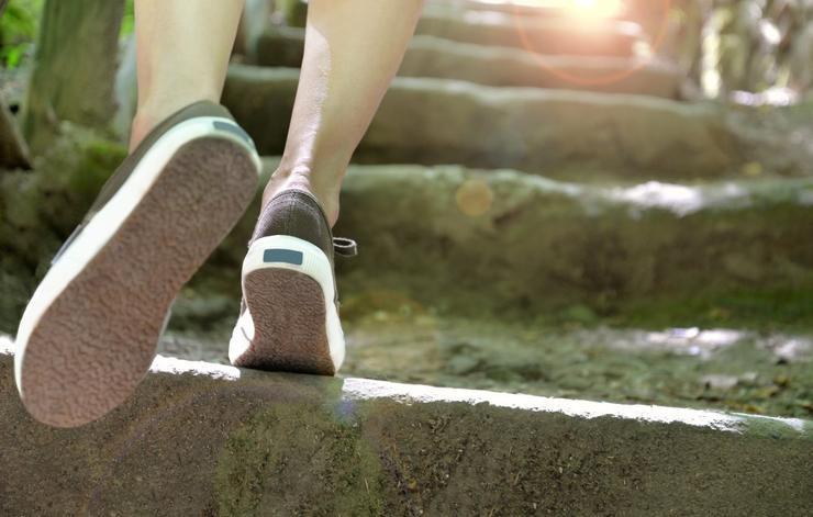 لاغری با پیاده روی,پیاده روی در جاهای بلند