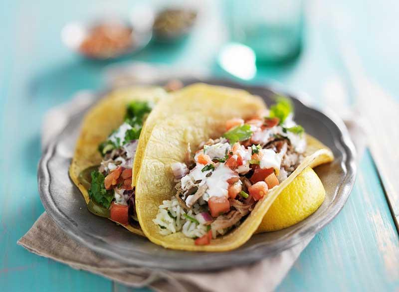 ماست برای لاغری,taco-greek-yogurt-sour-cream