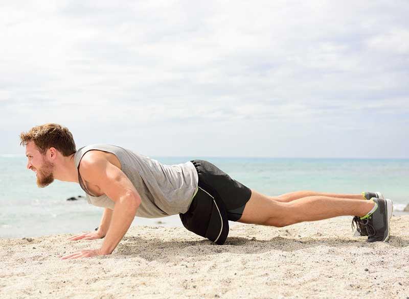ورزش برای آب کردن چربی پشت کمر,tricep-pushup