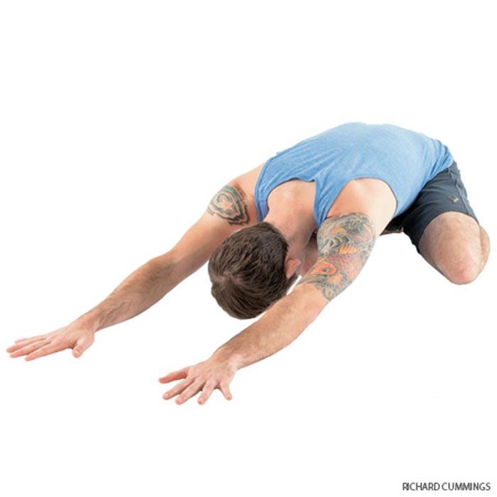 حرکات یوگا برای درمان دیسک کمر,child-pose حرکت کودک