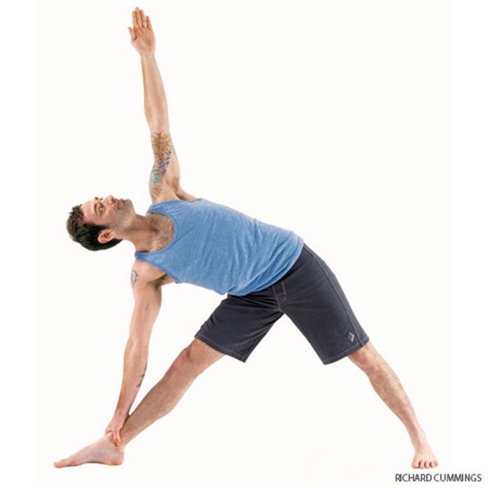 حرکات یوگا برای درمان دیسک کمر,triangle-pose حرکت مثلثی