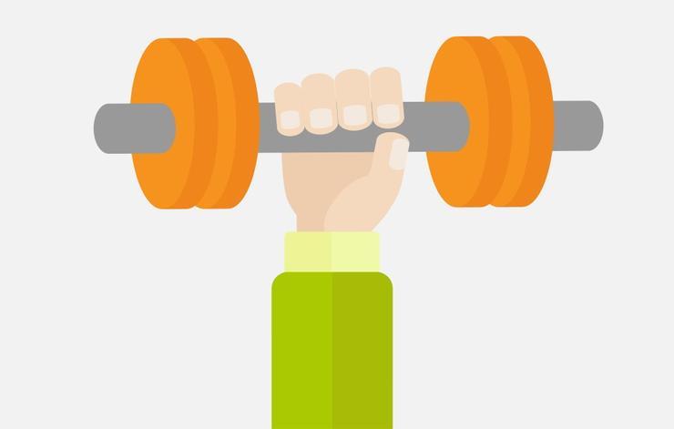 علت رشد نکردن عضله بازو,دمبل