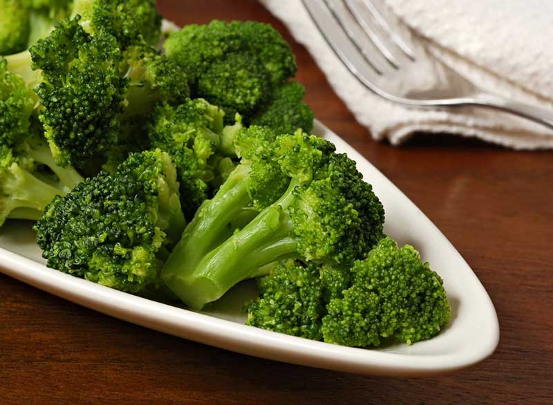 رژیم کربوهیدرات برای لاغری,steamed-broccoli کلم بروکلی