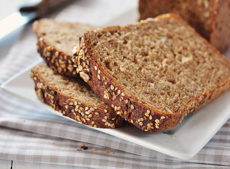 رژیم لاغری کربوهیدرات,whole-grain-bread نان سبوس دار