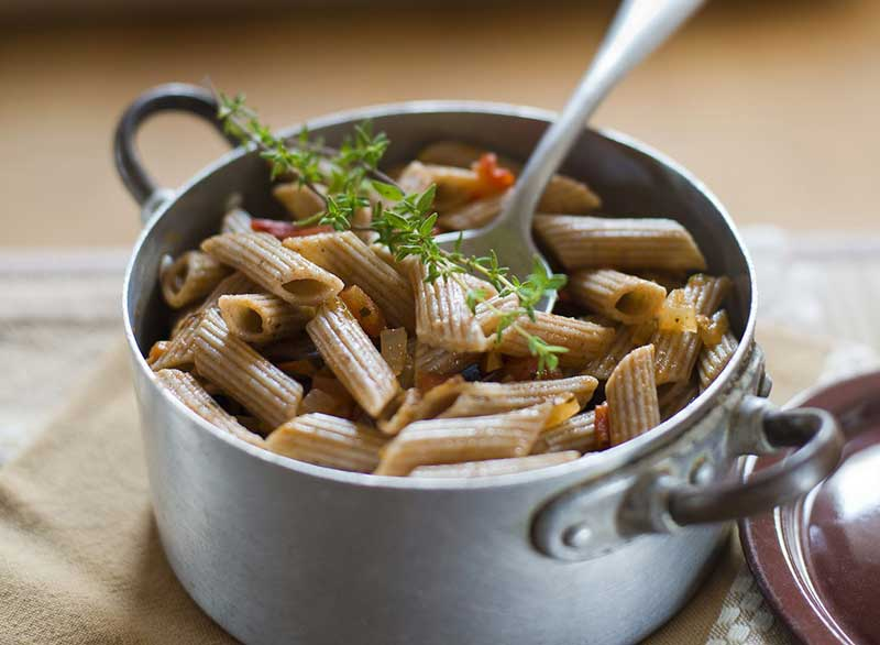 رژیم لاغری کربوهیدرات,whole-wheat-pasta پاستای تهیه شده از آرد سبوس دار