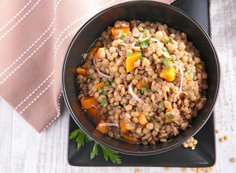 برنامه شکم شش تکه,lentils بقولات