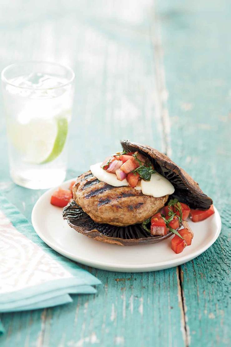 غذاهای رژیمی برای لاغری,portabello برگر بوقلمون