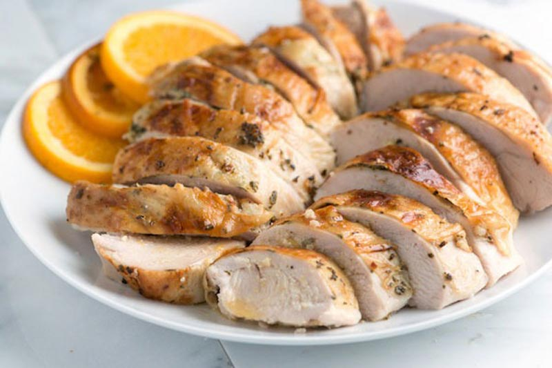 برنامه شکم شش تکه,thanksgiving-cheat-meals-orange-Turkey-Breast مرغ بدون چربی