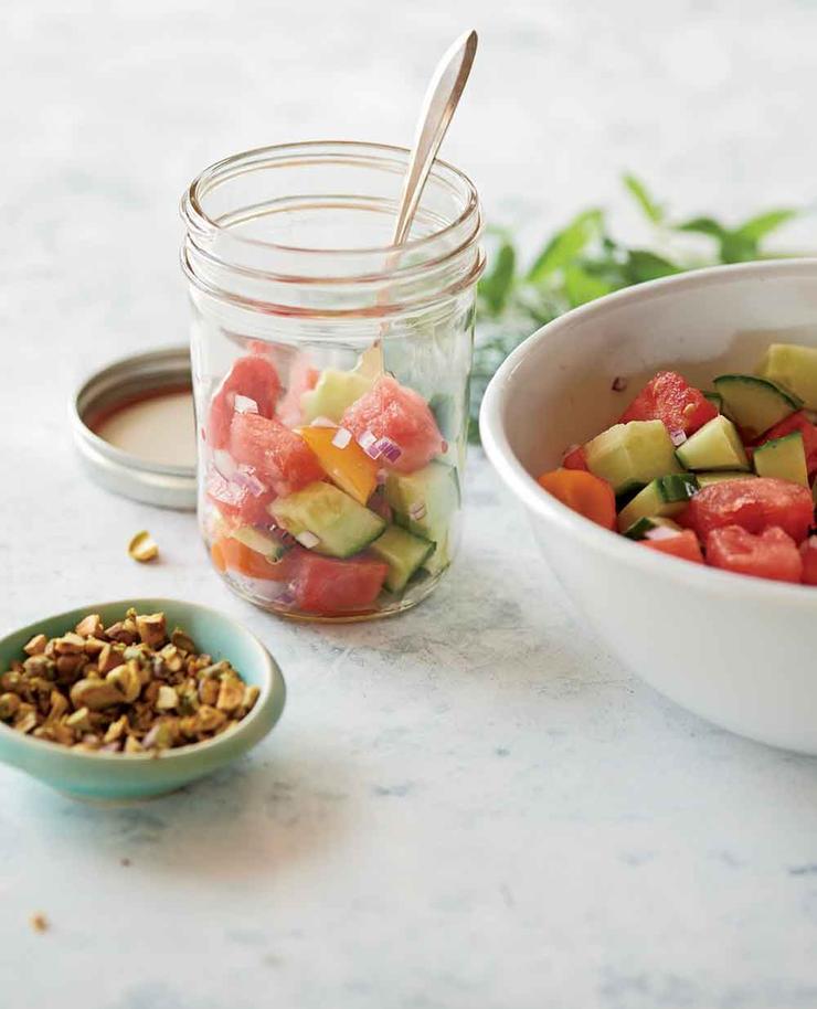 غذاهای رژیمی برای لاغری,watermelonsalad سالاد هندوانه