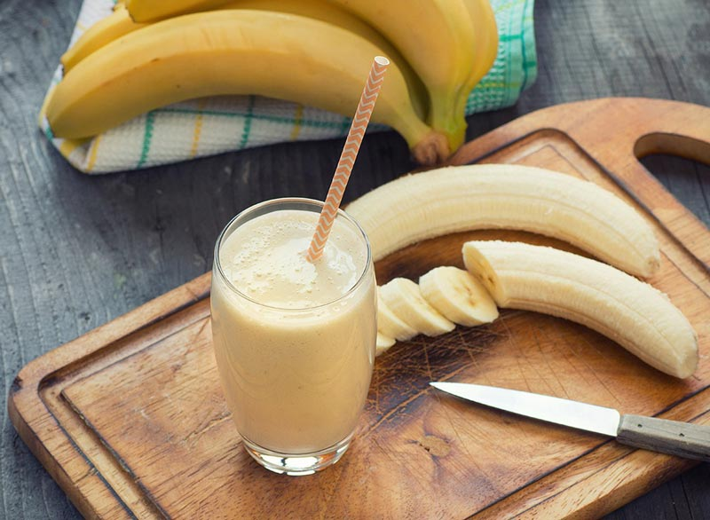 از بین بردن سریع نفخ شکم,banana-smoothie
