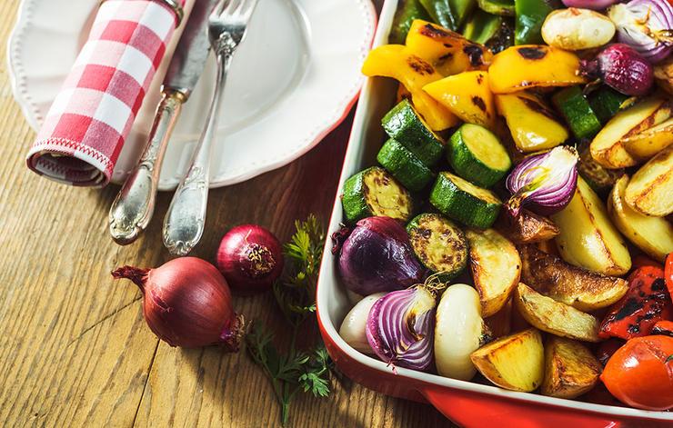 چگونه بدن و ذهنی قوی داشته باشیم,vegetable-dinner-سلامت مغز