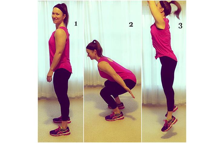 ورزشهای وزن بدن Jump Squat
