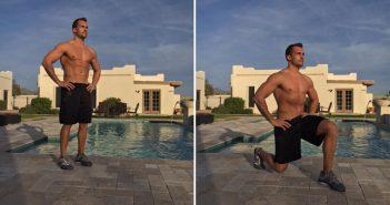 تمرینات قدرتی وزن بدن Lunges